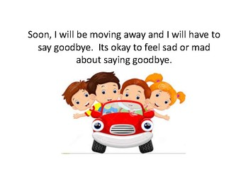Social Story about moving and saying goodbye