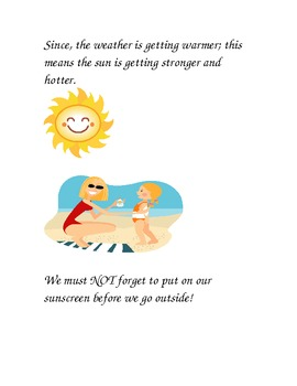 Social Story about putting on Sunscreen