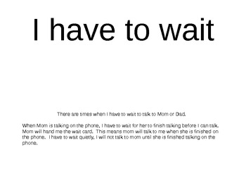Social Story about waiting
