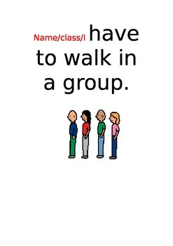 Social Story about walking in a group