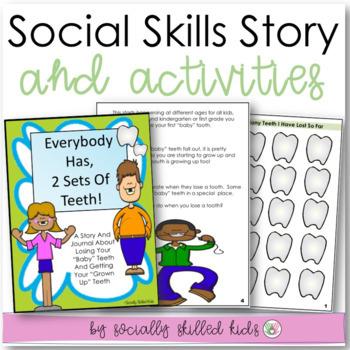 SOCIAL STORY/Journal: Everybody Has,2 Sets of Teeth {k-2nd