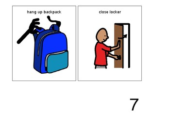 Social Story for Arrival Routine/Locker Routine