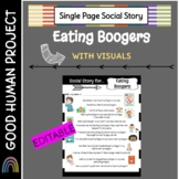 Social Story for Eating Boogers   Google + PDF + Powerpoint