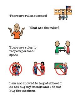 Social Story for Hugs at School