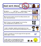 Social Story for Inappropriate Language or Good Word Choice