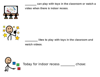 Social Story for Indoor Recess