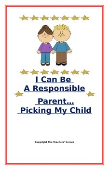 """Social Story for Parents- """"I Can Be A Responsible Parent-P"""