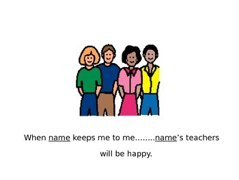 Social Story for students who hit, push or poke others