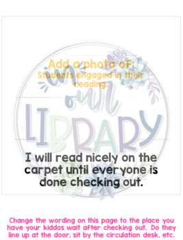 Social Story for the Library Media Center {Target Book}