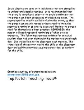 Social Story for transportation to school