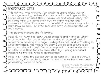 Social Story for using Speech Generating Device at School