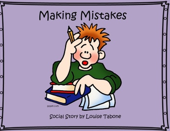 Social Story: Making Mistakes (in color, BW and white background)