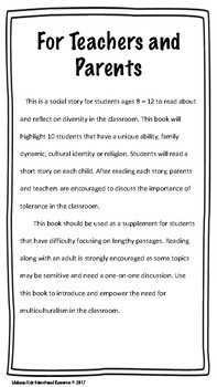 Social Story on Diversity/Multiculturalism in the Classroom