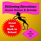 Following Verbal Directions Social Stories and Activity