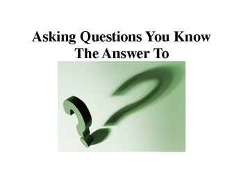 Social Story related to asking repeated questions
