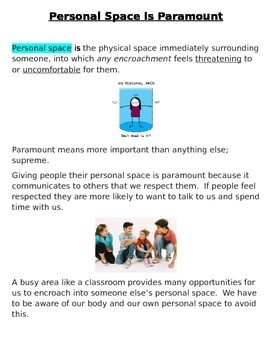 Social Story~Personal Space