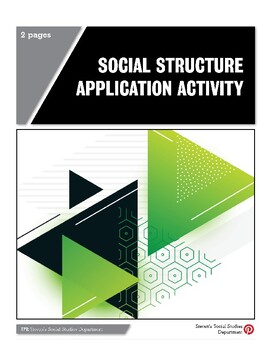Social Structure Application Activity