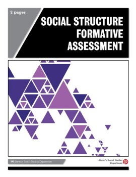 Social Structure Formative Assessment