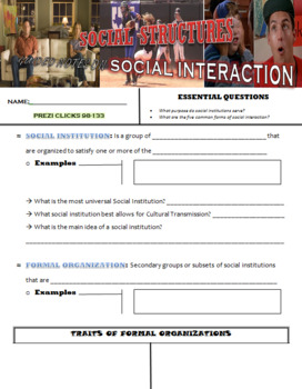 Social Structures and Socialization Prezi - Sociology