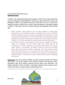 Social Studies 10-1 Economic Philosophers Statements Assignment
