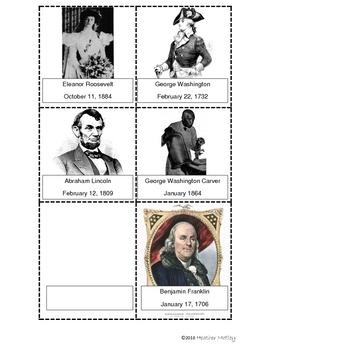 Social Studies 1.2 : Timeline of Famous Americans