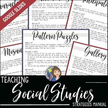 Social Studies Teaching Strategies Binder And Manual By Social