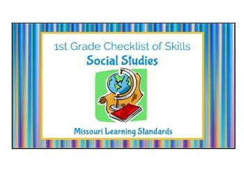 Social Studies: 1st Grade Missouri Learning Standards Checklist of Skills
