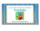1st Grade Social Studies Missouri Learning Standards Checklist of Skills