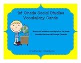 Social Studies 1st Grade Vocabulary Word Wall Cards