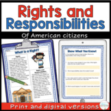 Rights and Responsibilities for Citizens 2nd Grade