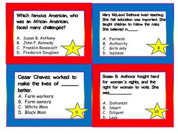 Social Studies 3rd Grade Famous Americans Review