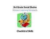 Social Studies: 3rd Grade Missouri Learning Standards Chec