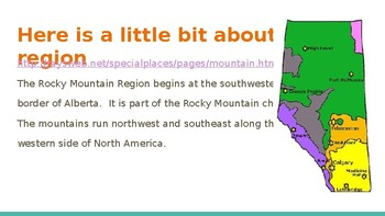 Social Studies 4 Alberta Curriculum Chapter two:  The Rocky Mountain Region