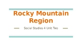 Social Studies 4 Alberta Curriculum Chapter two:  The Rock