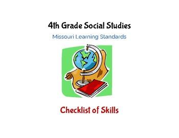 Social Studies: 4th Grade Missouri Learning Standards Checklist of Skills