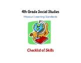 Social Studies: 4th Grade Missouri Learning Standards Chec