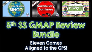 Social Studies 5th Grade Georgia Milestones Review - BUNDLE