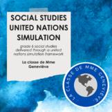 Social Studies 6 through a United Nations Simulation