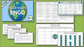 Social Studies 6th Grade Georgia Milestones Review - BUNDLE