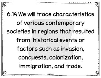 Social Studies 6th Grade We Will Statements