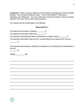 Alberta Bundle: Social Studies 7 Workbook Chp.1-11