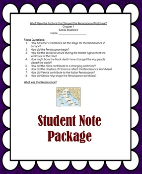 Social Studies 8 Chapter 1 SLIDES AND STUDENT NOTES (Our Worldviews)