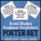 Social Studies Academic Vocabulary Classroom Posters Bulletin Board Word Wall
