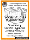 Social Studies Academic Vocabulary Graphic Organizer