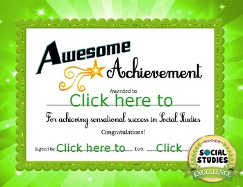 Social Studies Achievement Award