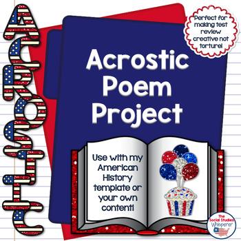 Social Studies Acrostic Review Project
