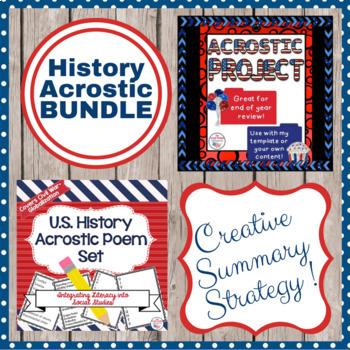 Social Studies Acrostic Set and Review Project Bundle