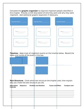 Social Studies Active Reading Template