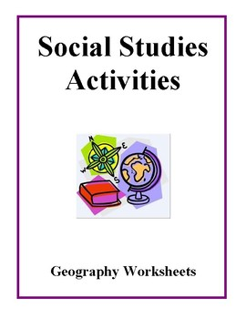 Social Studies Activities - Geography Worksheets