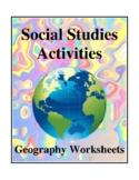 Social Studies Activities - Geography Worksheets